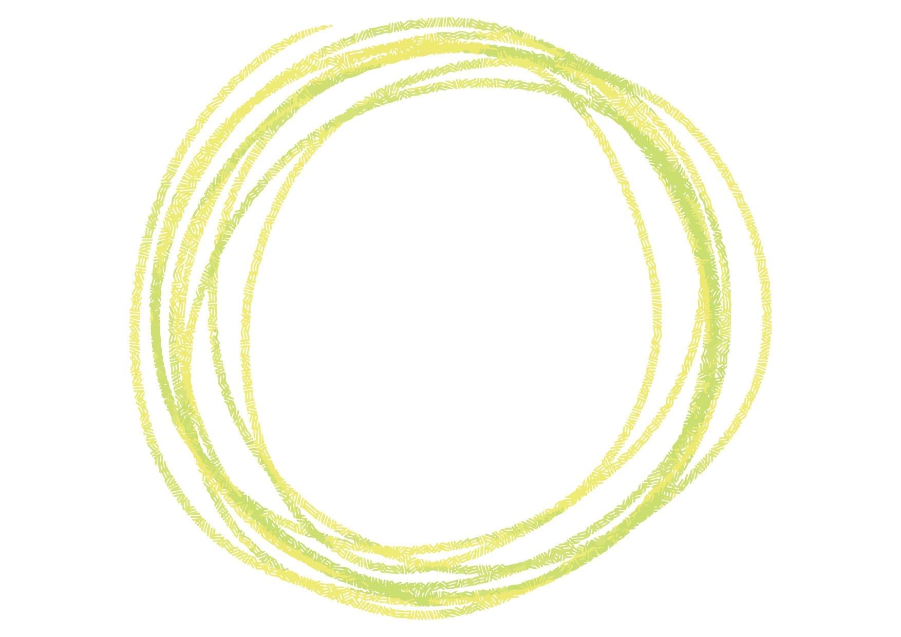 可愛いイラスト無料|円 手書き ラフ 黄色 − free illustration Circle handwriting rough yellow