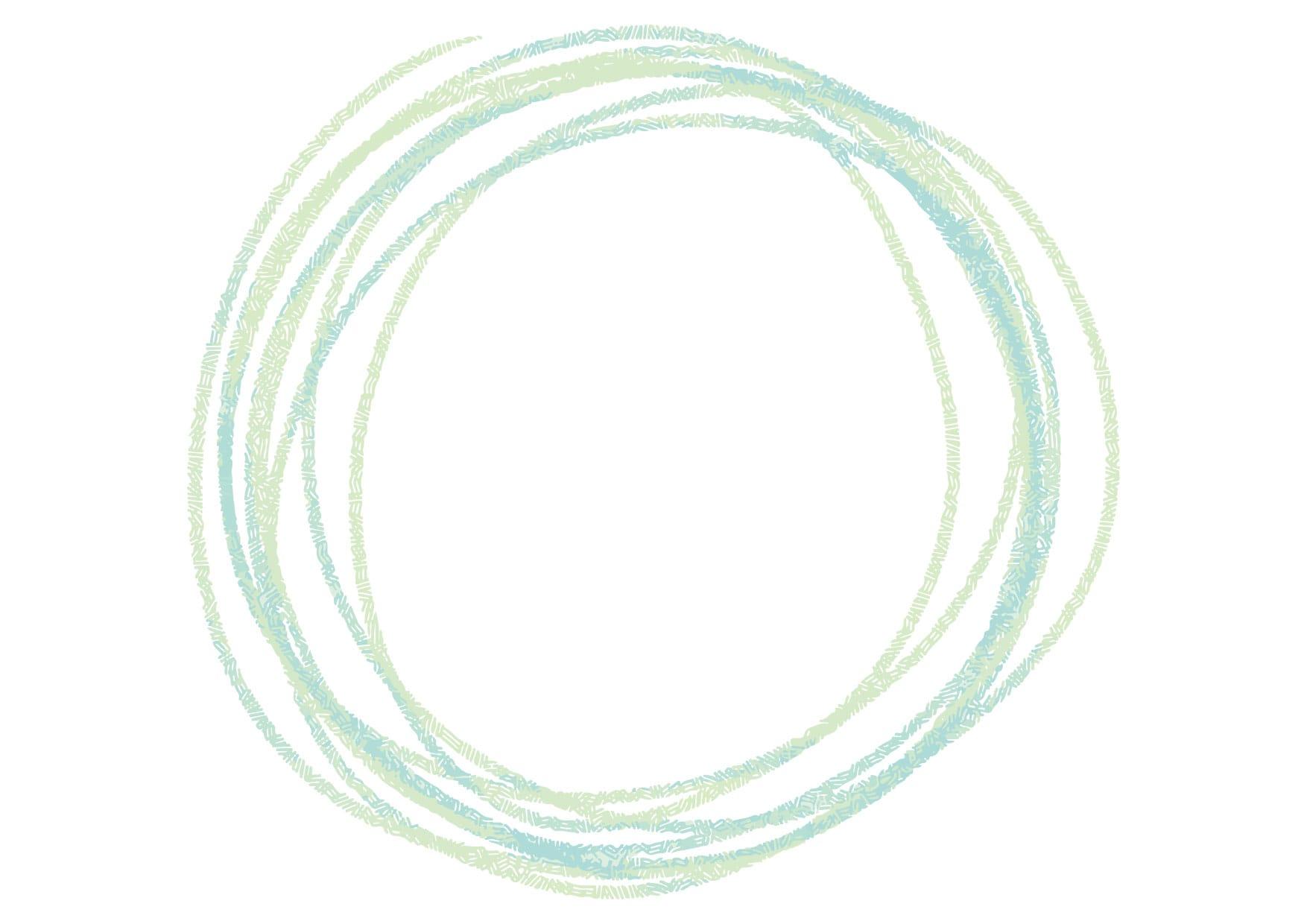 可愛いイラスト無料|円 手書き ラフ 緑色 − free illustration Circle handwriting rough green