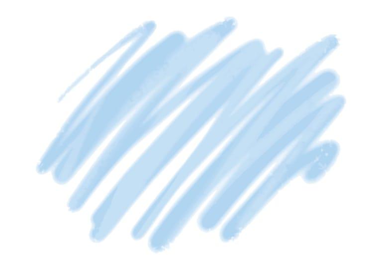水彩 落書き 背景 青色 イラスト 無料