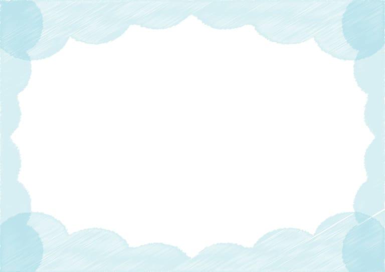 背景 雲 ラフ 青色 イラスト 無料