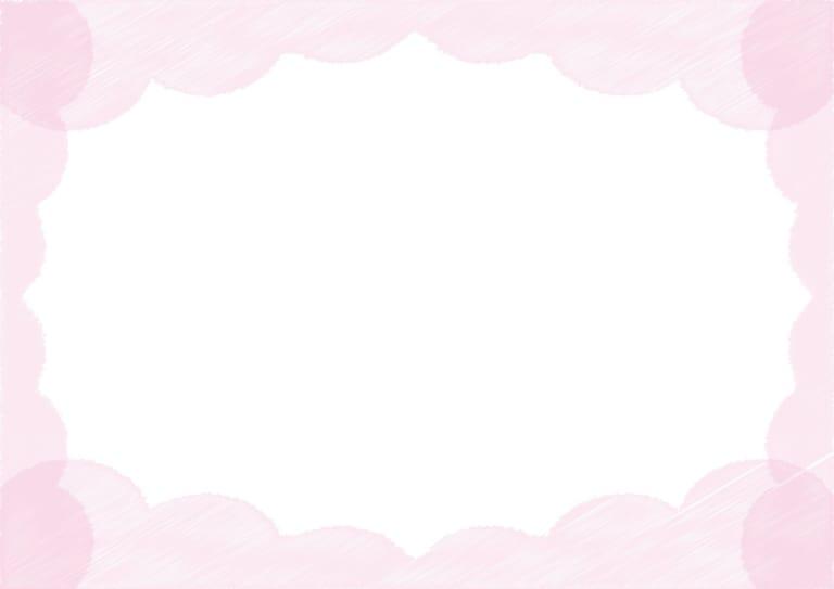背景 雲 ラフ ピンク色 イラスト 無料