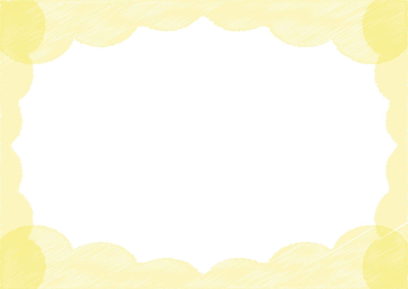 背景 雲 ラフ 黄色 イラスト 無料