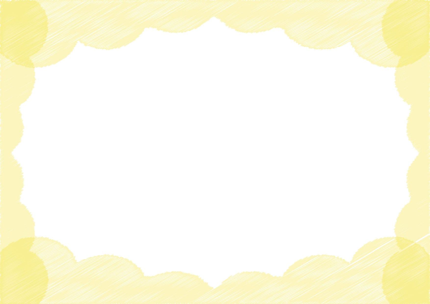 雲 ラフ 黄色 イラスト 無料