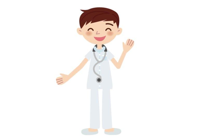 看護師 片手を挙げる イラスト 無料