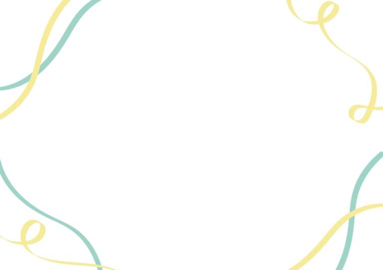 リボン 背景 黄色 青色 イラスト 無料
