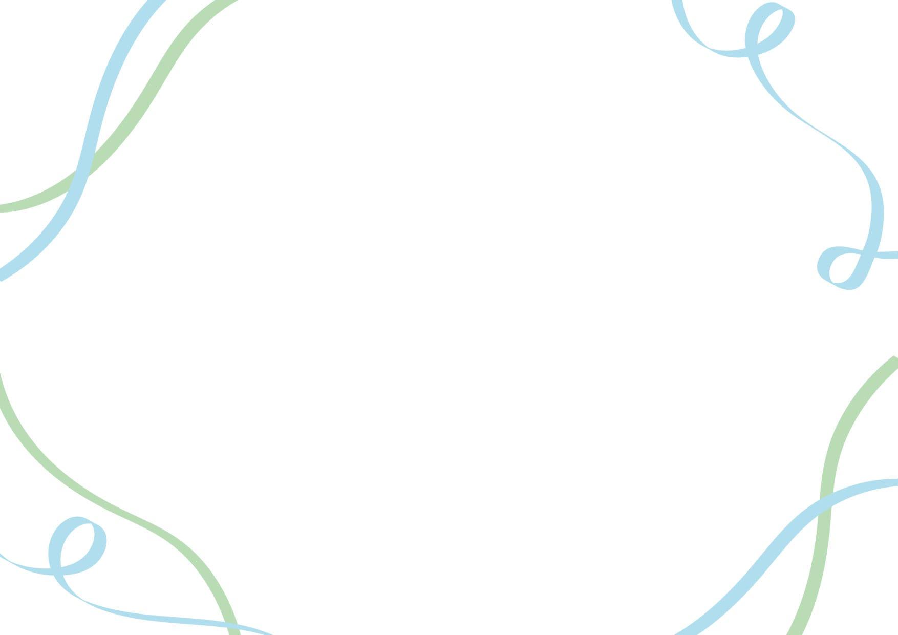 可愛いイラスト無料|リボン 背景 青色 緑色 − free illustration  Ribbon background blue green