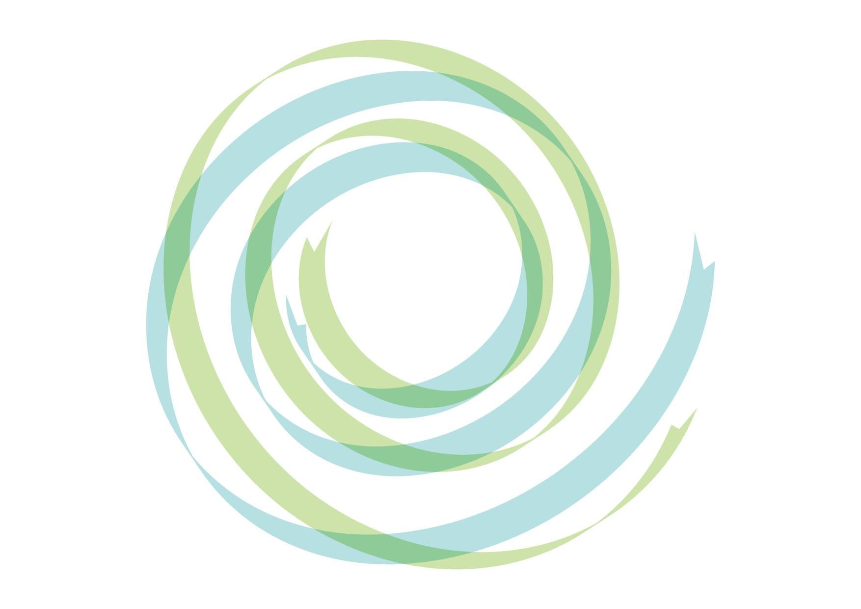 可愛いイラスト無料|リボン 背景 カール 青色 緑色 − free illustration  Ribbon background curl blue green