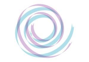 リボン 背景 カール 紫色 青色 イラスト 無料