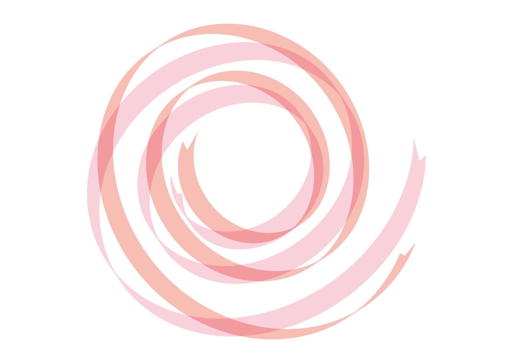 リボン 背景 カール 赤色 ピンク色 イラスト 無料
