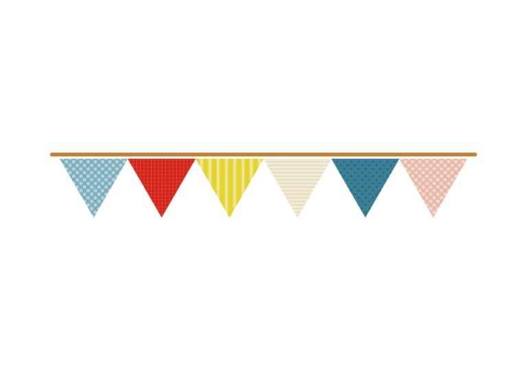 フラッグ 三角 かわいい イラスト 無料 無料イラストのイラスト