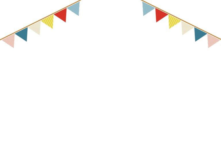 フラッグ 三角 かわいい 背景 イラスト 無料