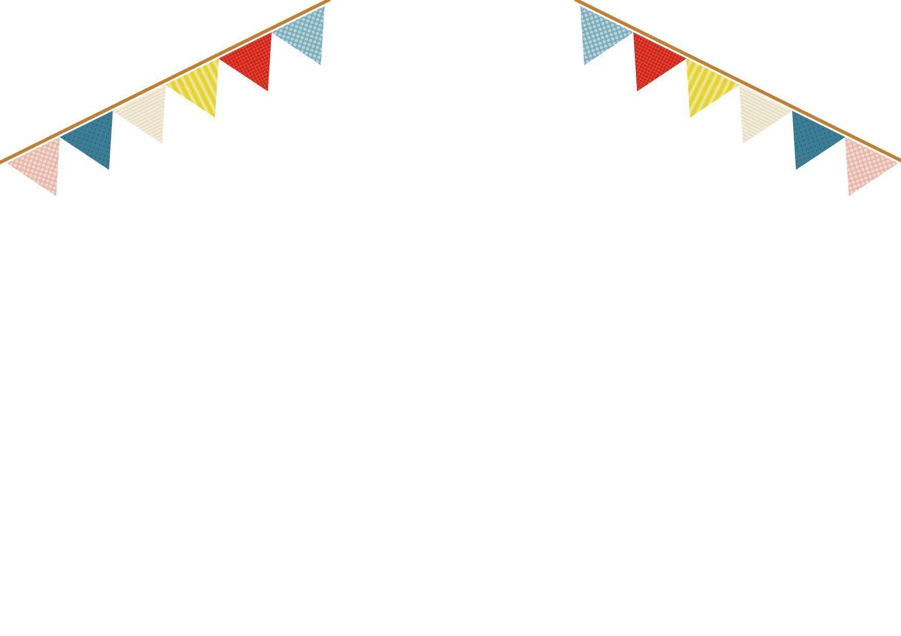 可愛いイラスト無料|フラッグ 三角 かわいい 背景 − free illustration Flag triangle cute background