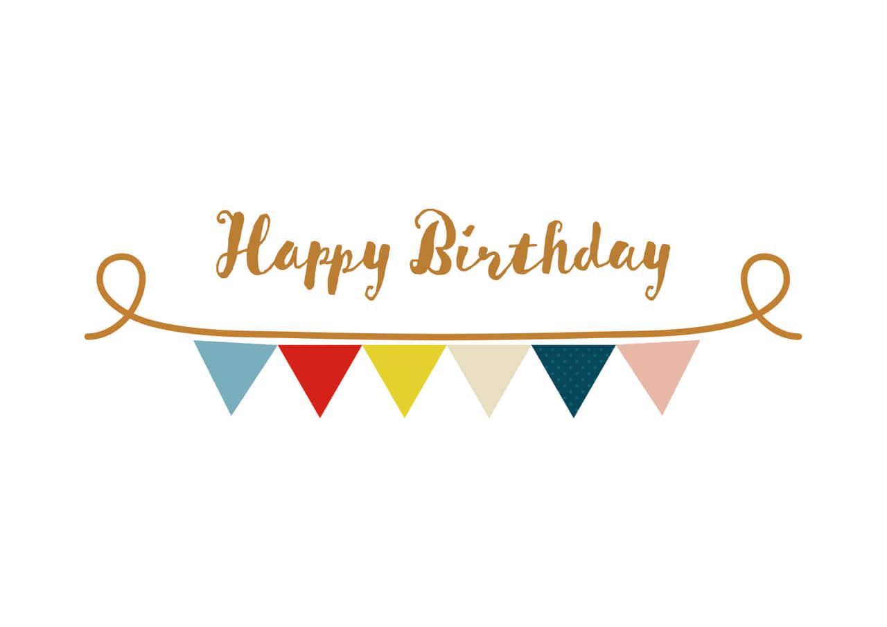 可愛いイラスト無料|フラッグ 三角 かわいい 誕生日 − free illustration  Flag triangle cute birthday