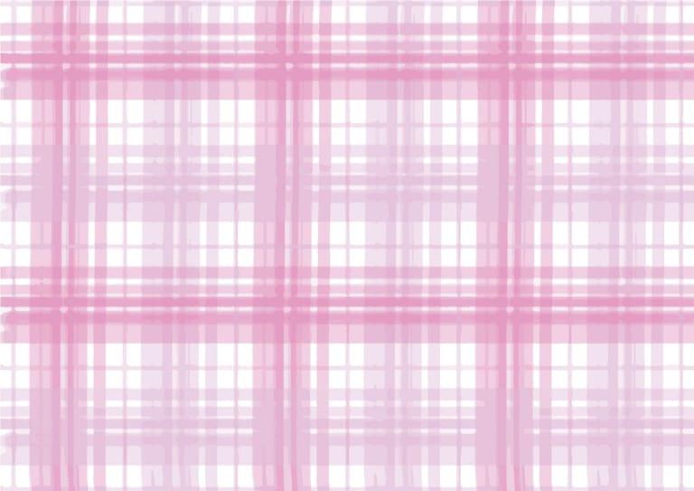 手書き チェック柄 ピンク色 背景 イラスト 無料