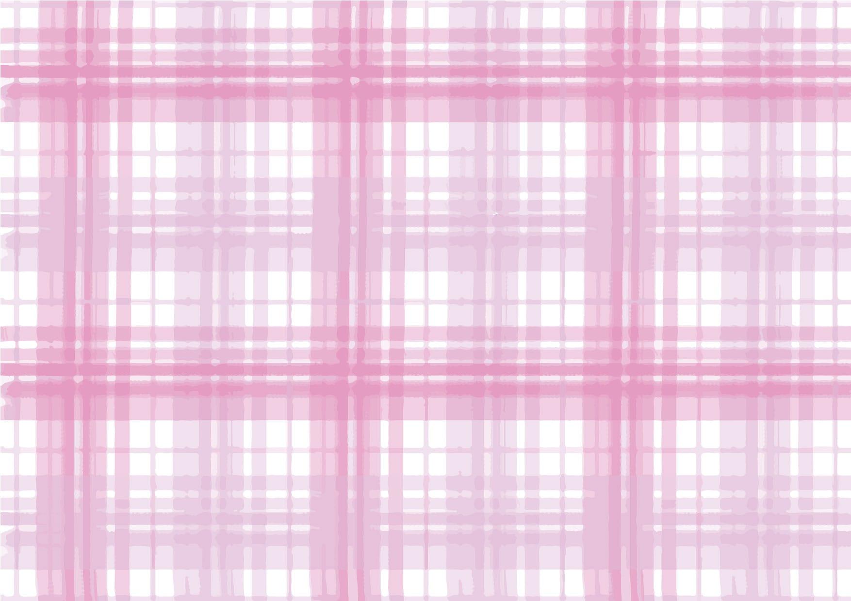 可愛いイラスト無料|手書き チェック柄 ピンク色 背景 − free illustration  Handwritten check pattern pink background