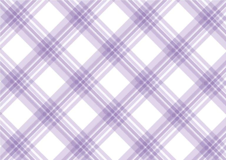 手書き チェック柄 紫色 背景2 イラスト 無料