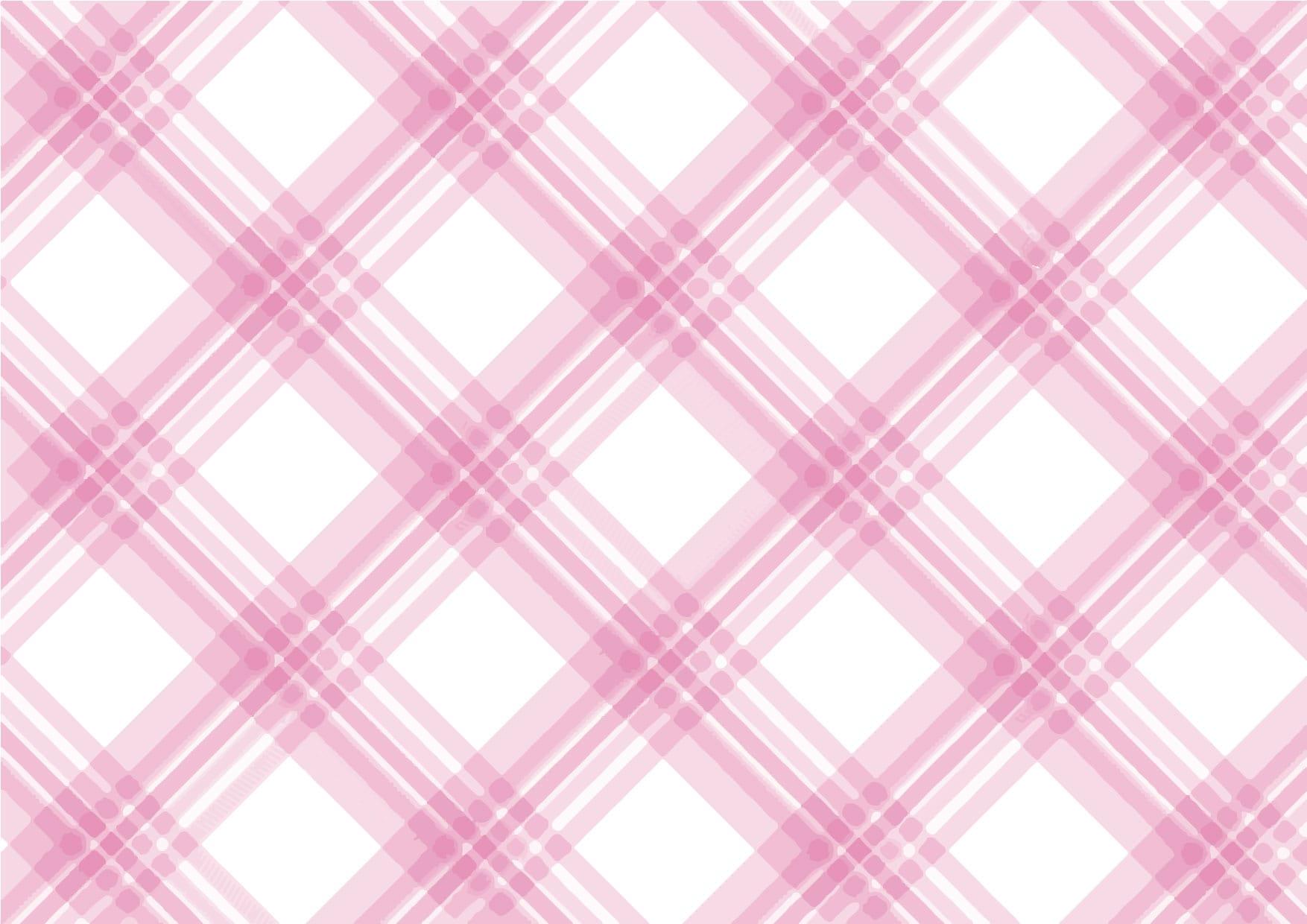 可愛いイラスト無料|手書き チェック柄 ピンク色 背景2 − free illustration  Handwritten check pattern pink background
