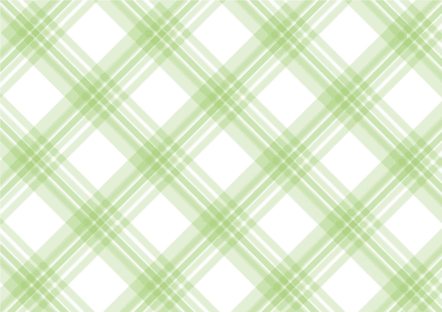 手書き チェック柄 緑色 背景2 イラスト 無料