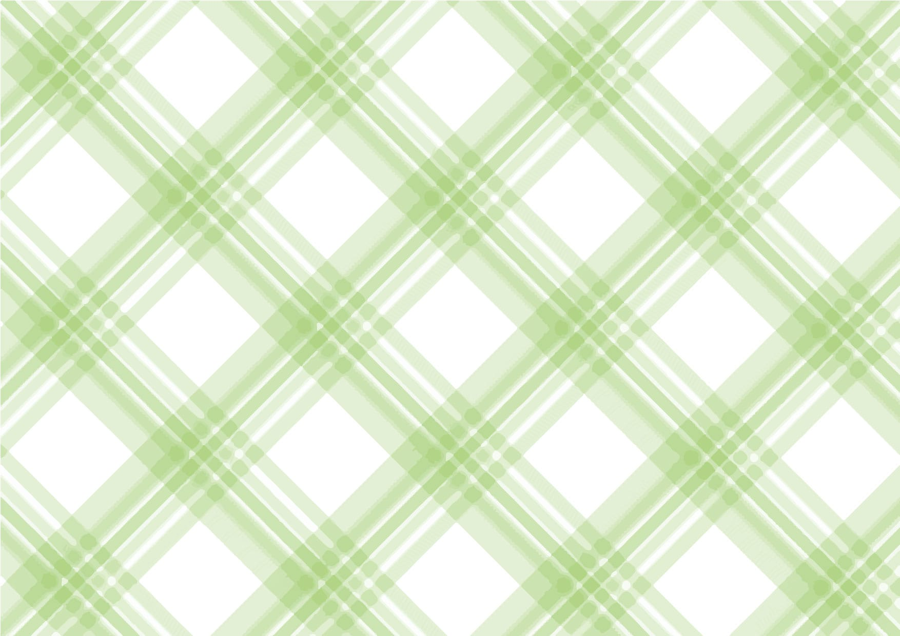 可愛いイラスト|手書き チェック柄 緑色 背景2 − free illustration  Handwritten check pattern green background