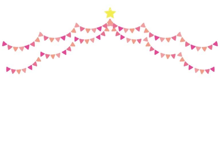 フラッグ ピンク色 背景 イラスト 無料