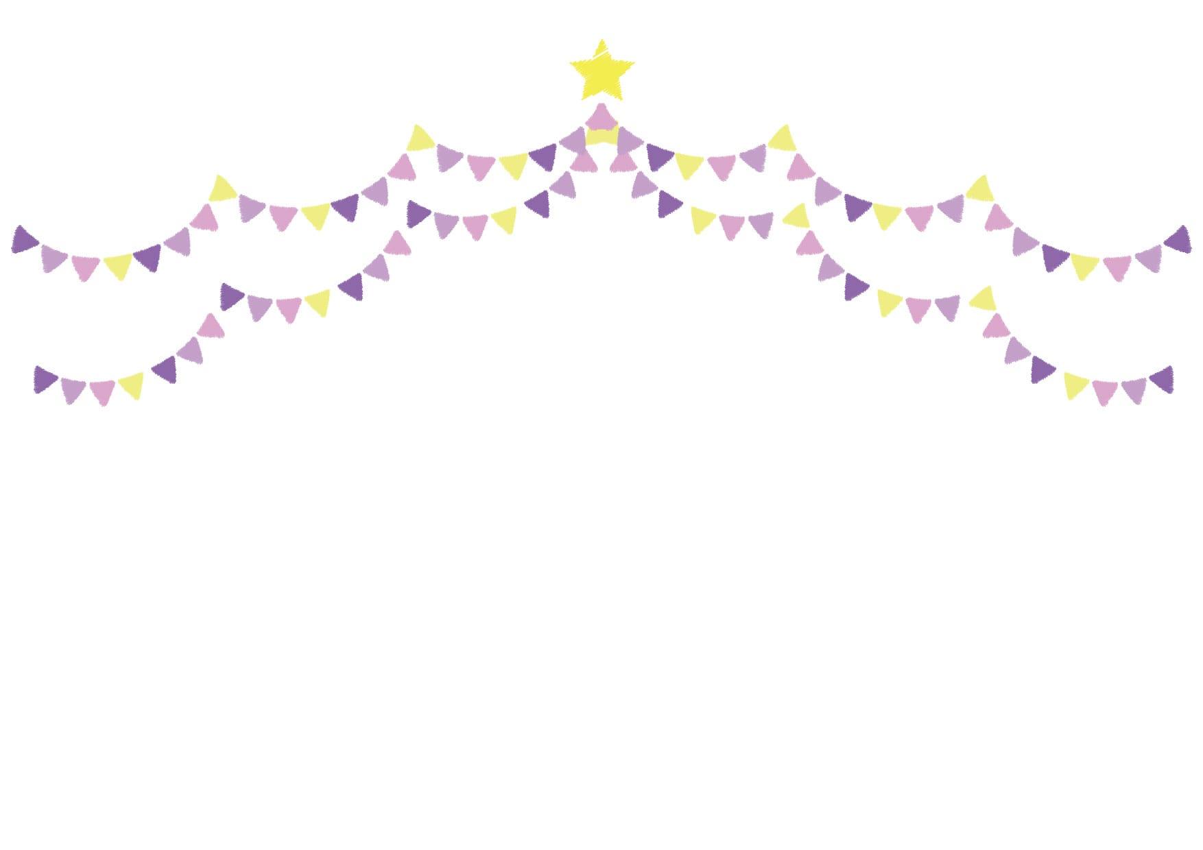 フラッグ 紫色 背景 イラスト 無料