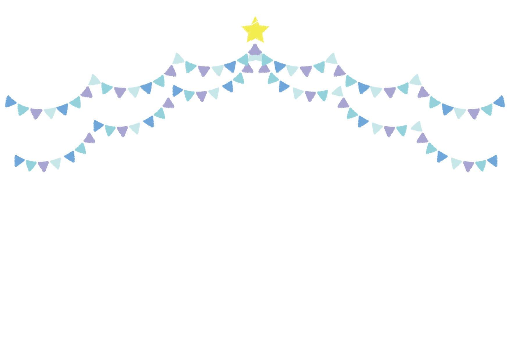 可愛いイラスト無料|フラッグ 青色 背景 − free illustration  Flag blue background