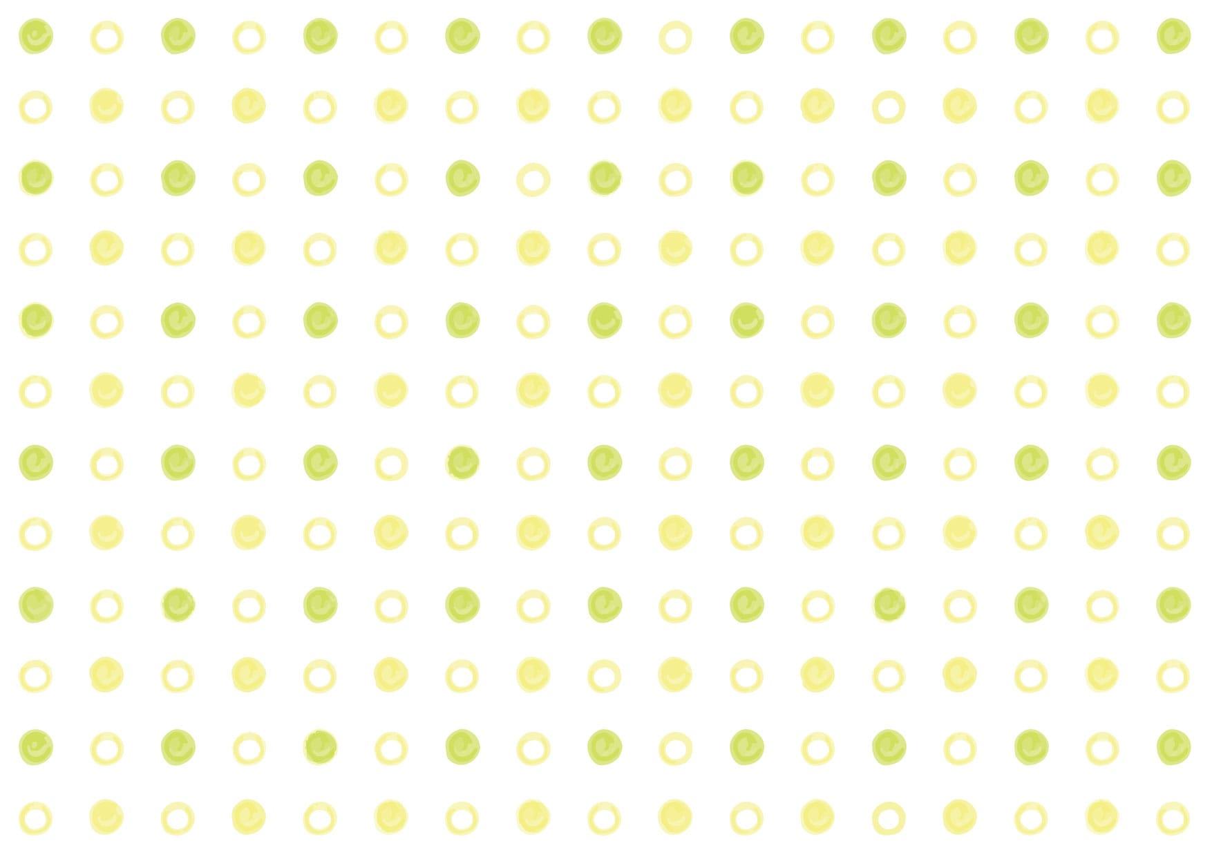 可愛いイラスト無料|水玉 手書き 黄色 背景 − free illustration  Polka dot handwritten yellow background
