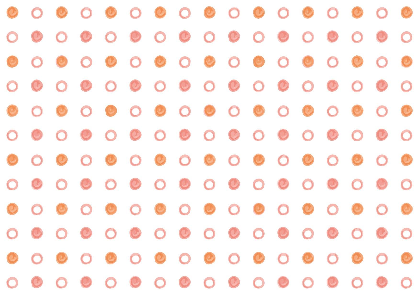 可愛いイラスト無料|水玉 手書き 赤色 背景 − free illustration Polka dot handwritten red background