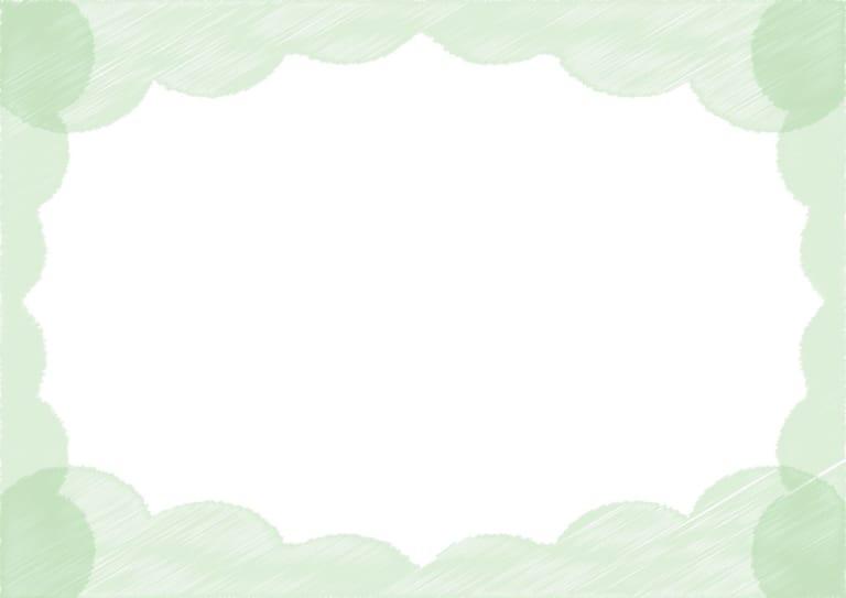 背景 雲 ラフ 緑色 イラスト 無料