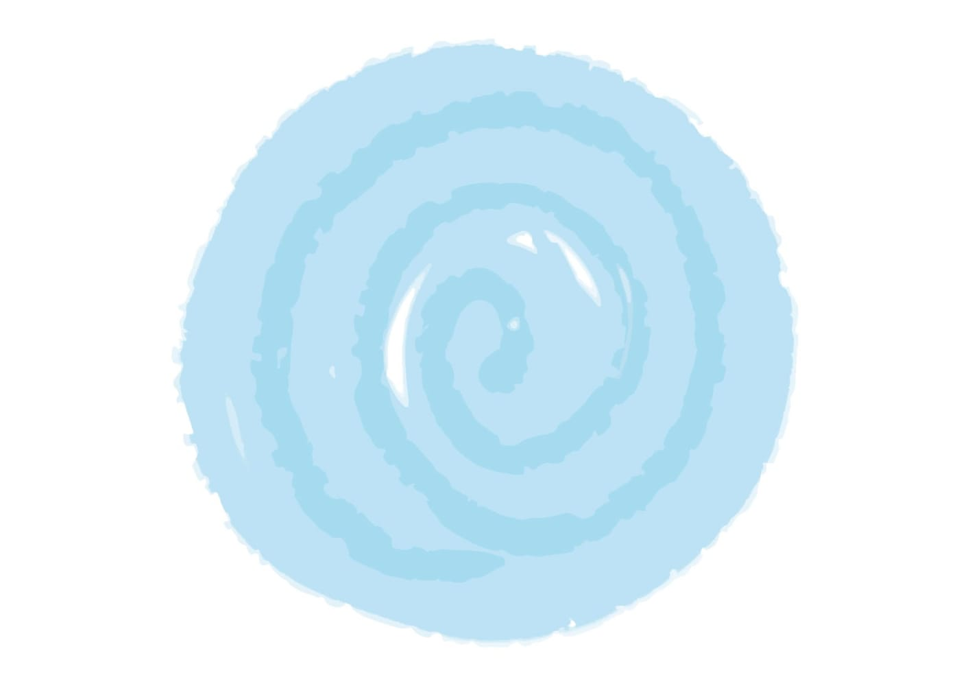 水彩 背景 フレーム 水色 イラスト 無料