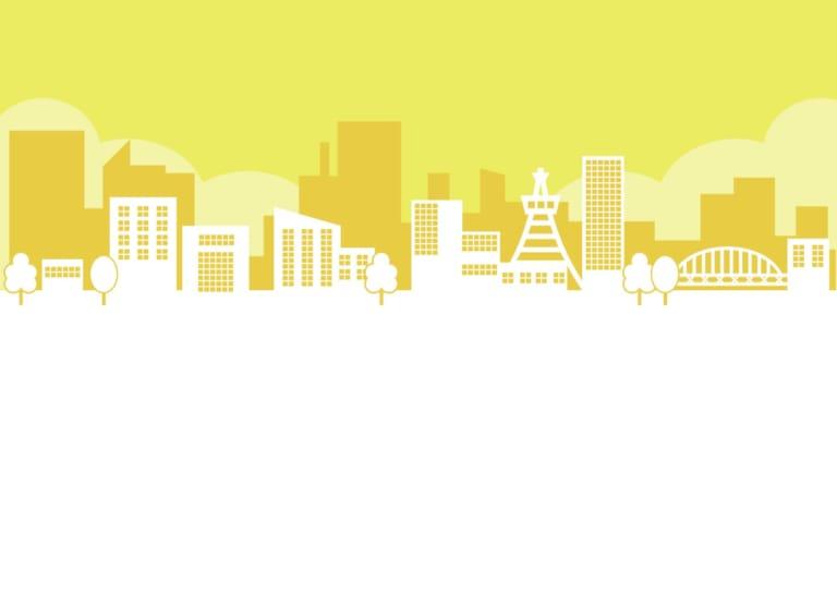 街並み 黄色 イラスト 無料