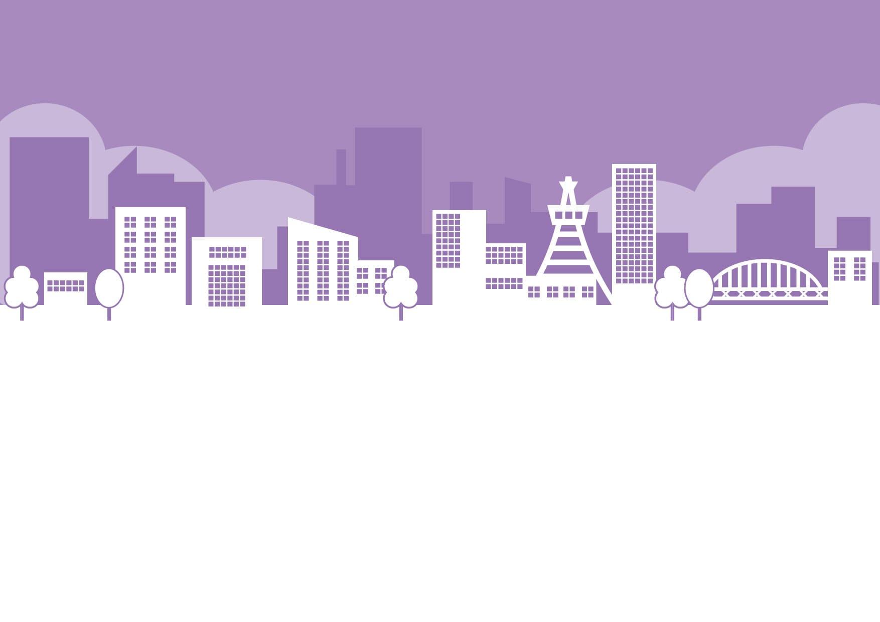 街並み 紫色 イラスト 無料