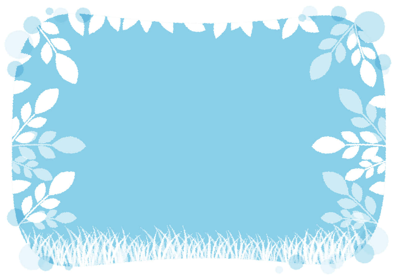 可愛いイラスト無料|若葉 空 水彩 背景 − free illustration  Leaf sky background