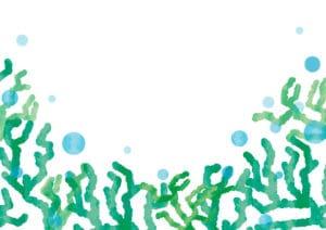 珊瑚(さんご) 背景 緑色 イラスト 無料