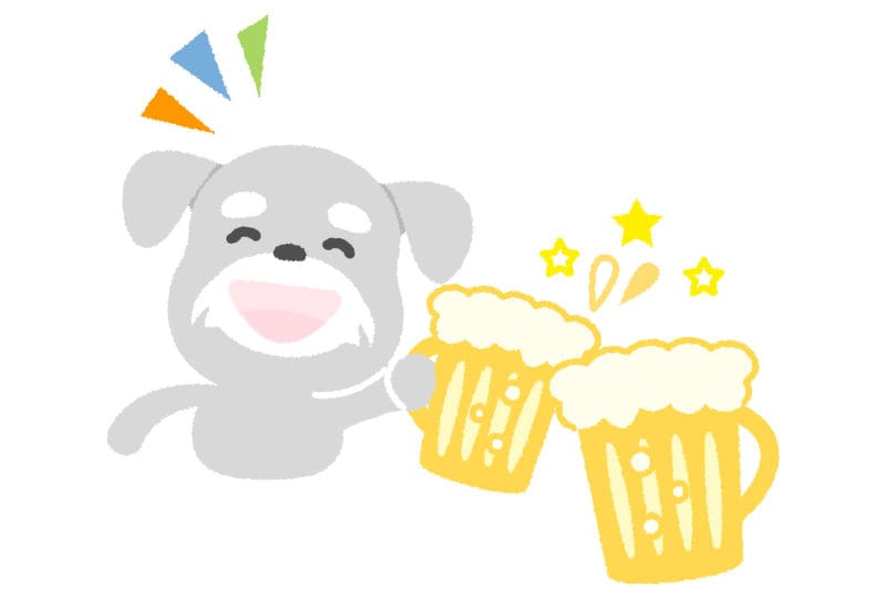 犬 ビール イラスト 無料
