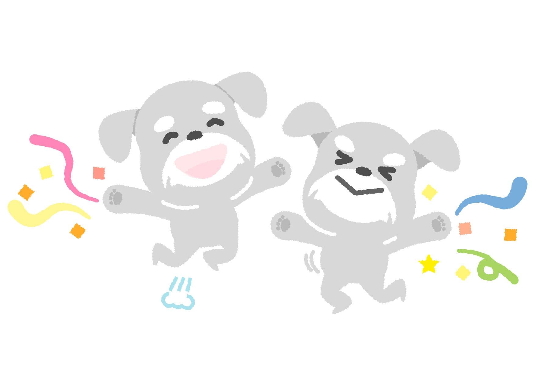 犬 ジャンプ イラスト 無料