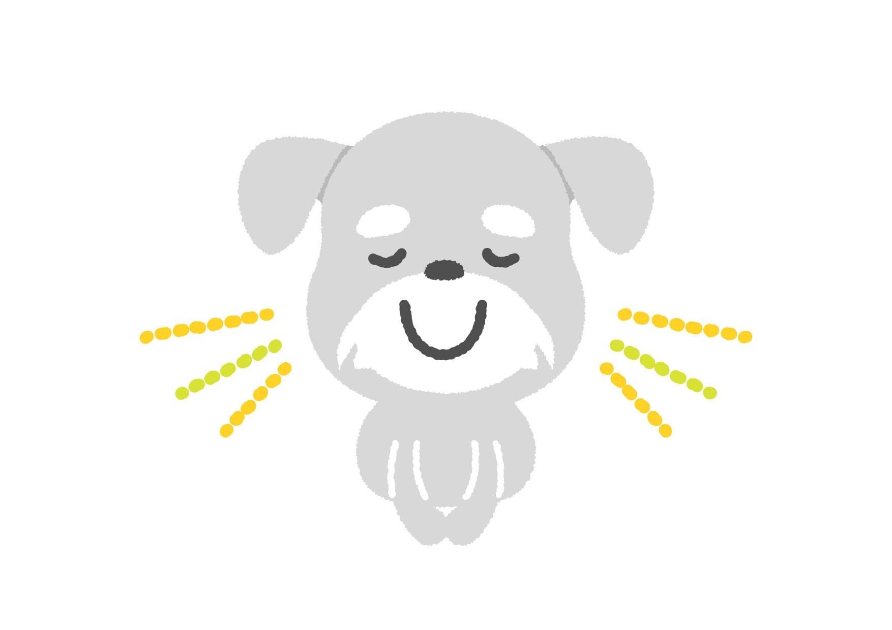 可愛いイラスト無料|犬 お辞儀 − free illustration  Dog bow