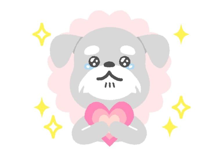 犬 胸キュン イラスト 無料