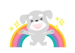 犬 喜ぶ ジャンプ イラスト 無料