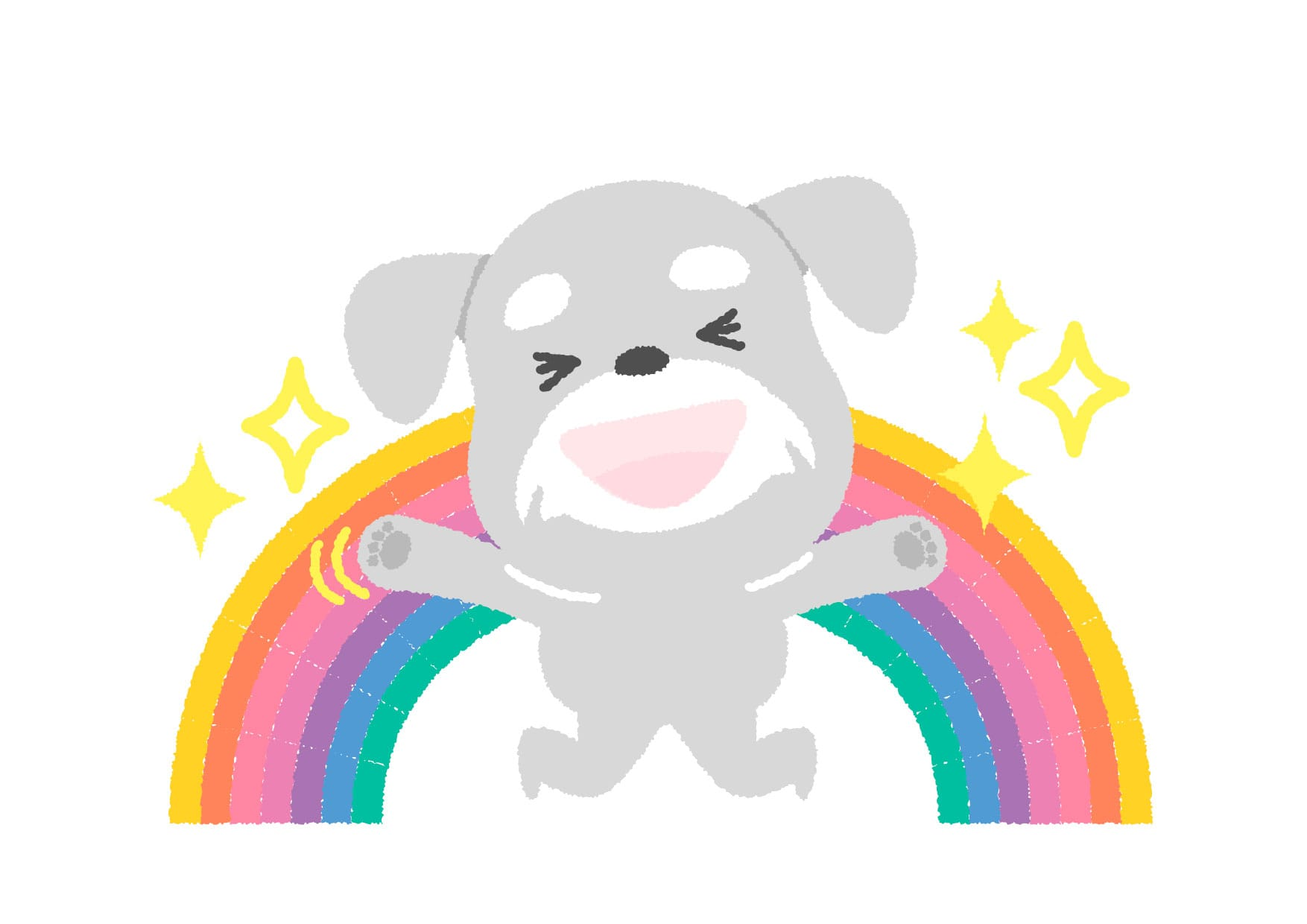 可愛いイラスト無料|犬 喜ぶ ジャンプ − free illustration  Dog rejoices jump