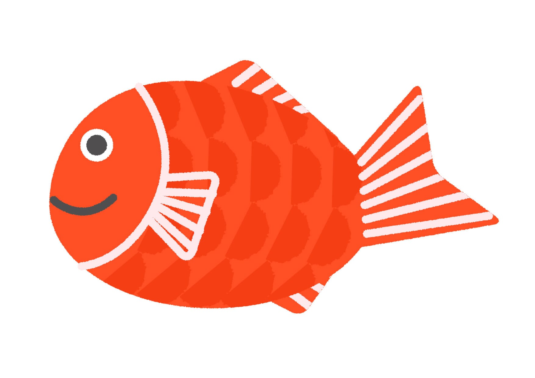 可愛いイラスト|魚 鯛 − free illustration Fish  Red snapper
