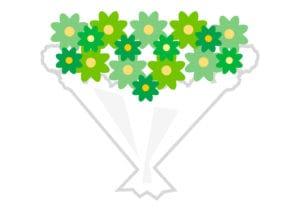 花束 緑色 イラスト 無料