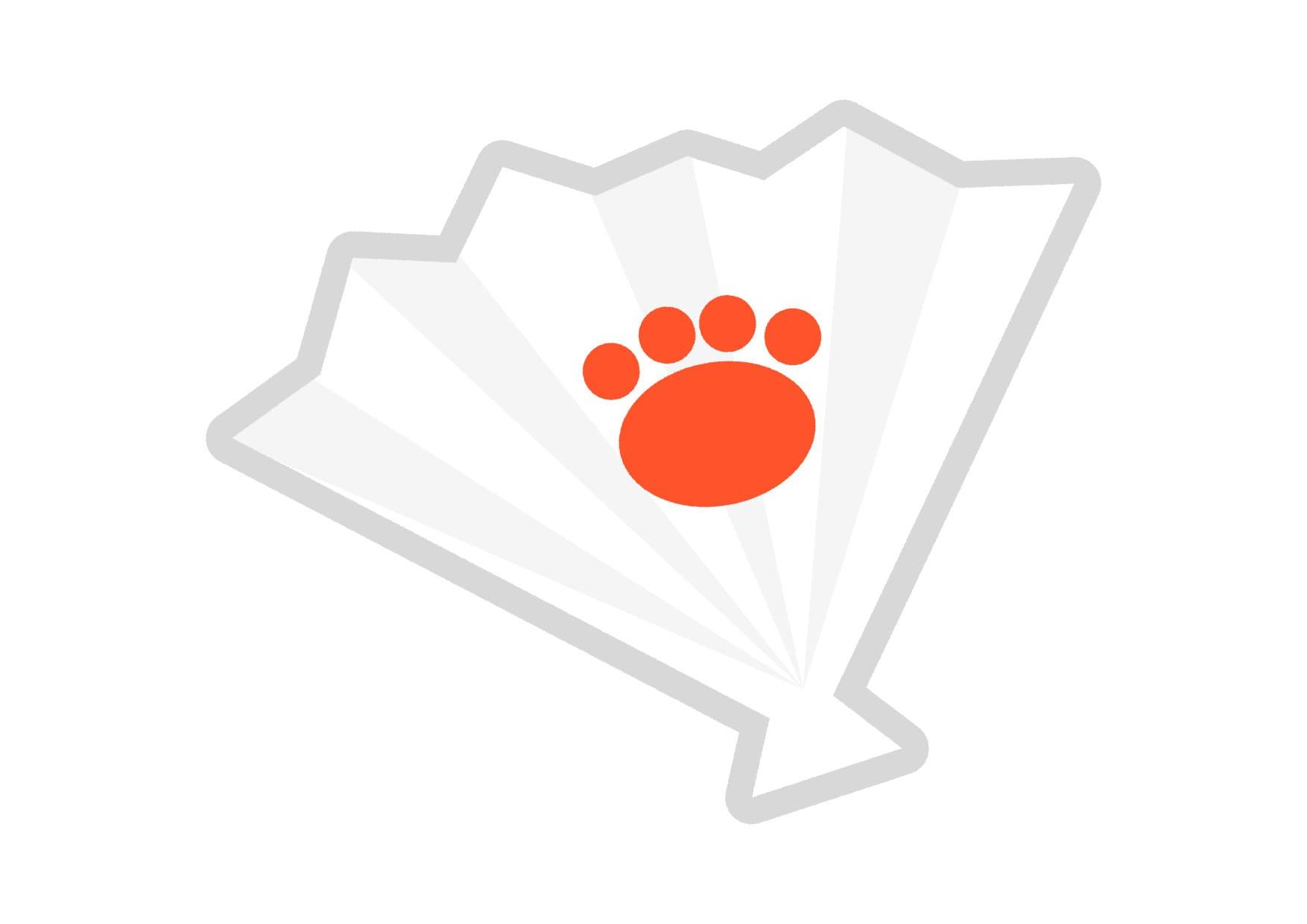 可愛いイラスト無料|扇子 足跡 − free illustration  Folding fan  Footprint