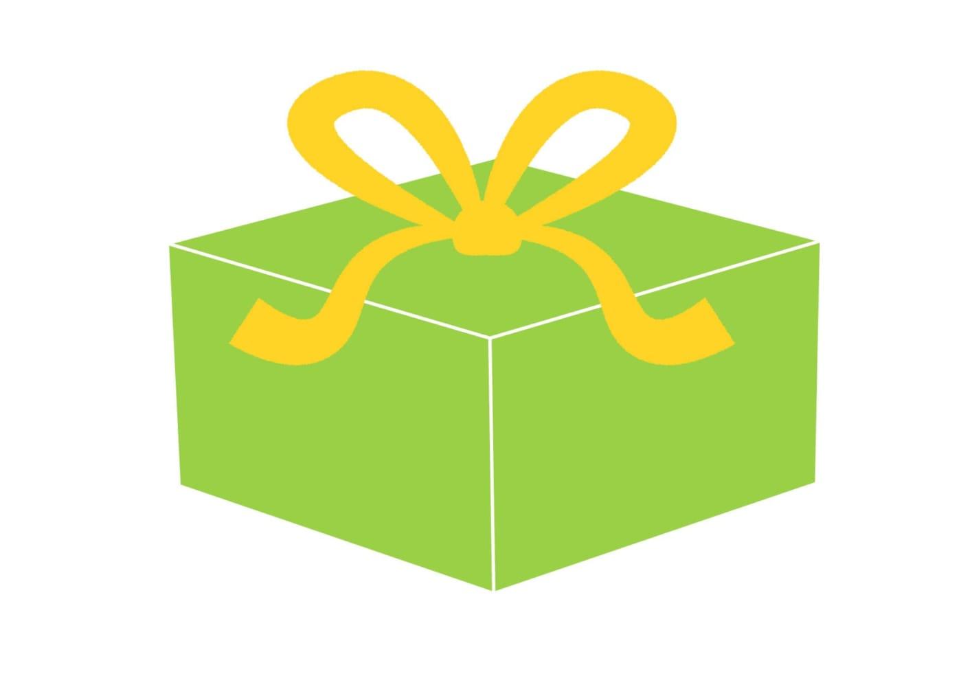 プレゼント 緑色 イラスト 無料