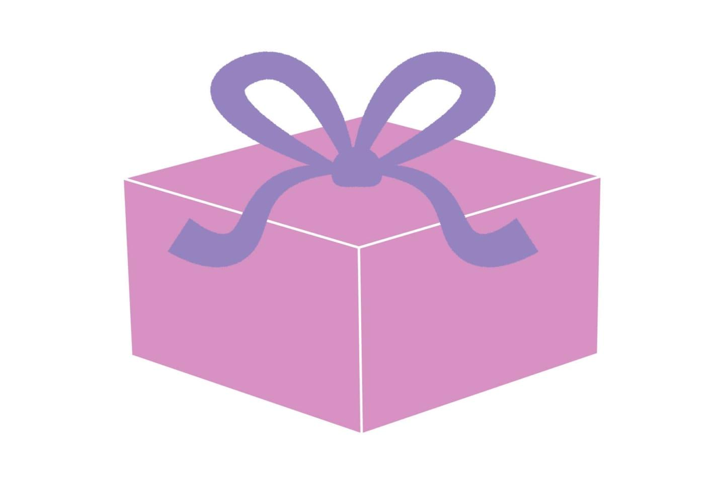 プレゼント 紫色 イラスト 無料