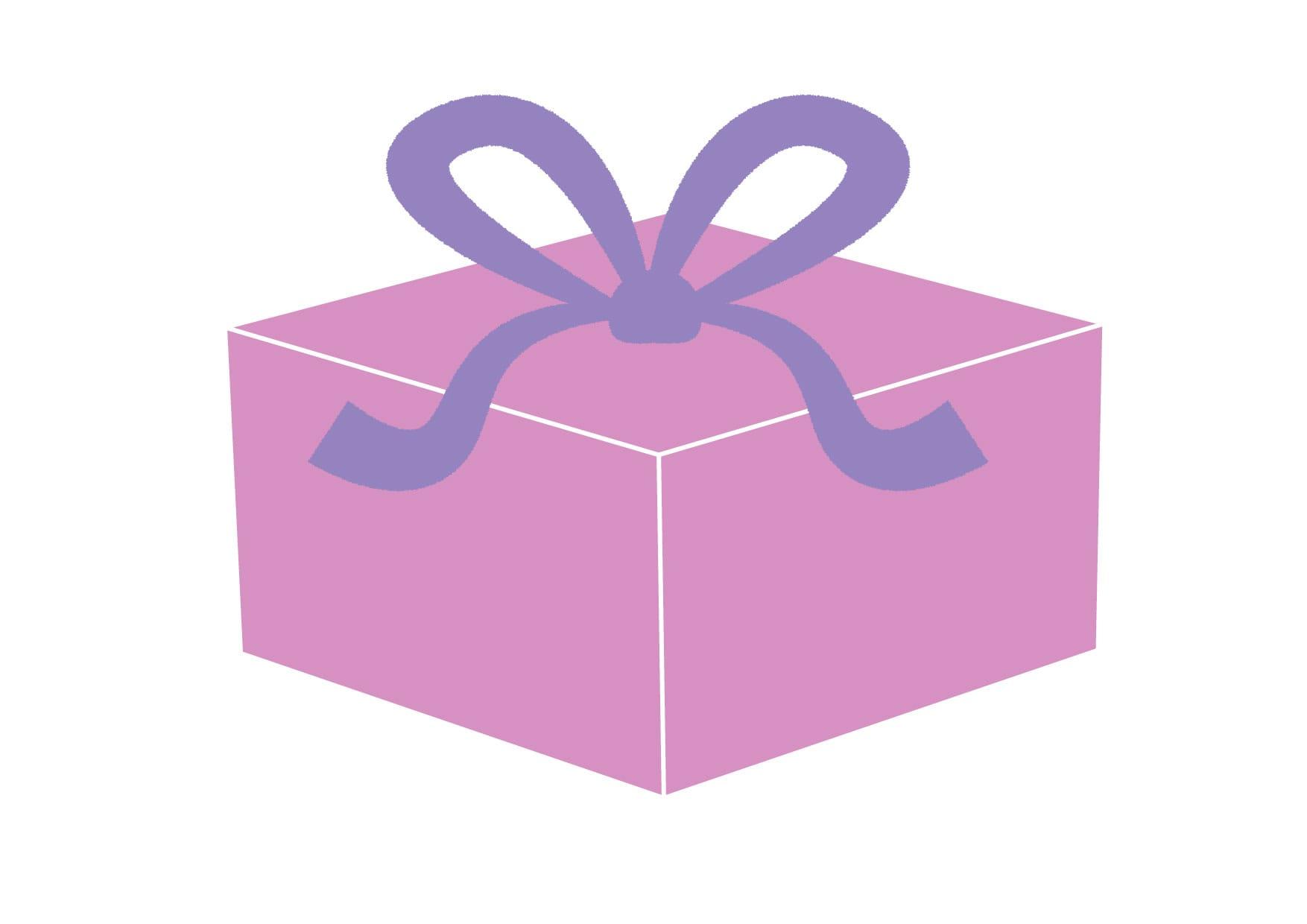 可愛いイラスト無料|プレゼント 紫色 − free illustration  Present purple