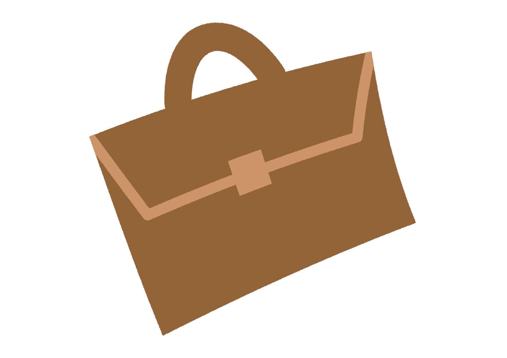 可愛いイラスト|ビジネスバッグ  − free illustration  Business bag