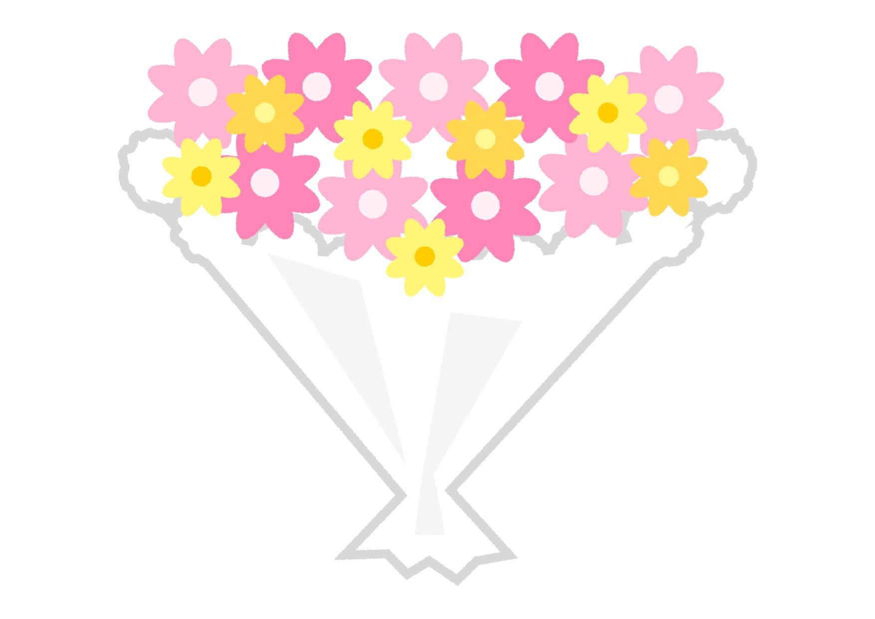 可愛いイラスト無料|花束 ピンク − free illustration  Bouquet pink