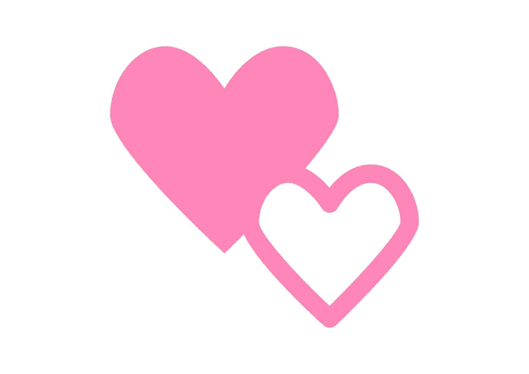 可愛いイラスト無料|ハートマーク ピンク − free illustration Heart symbol pink