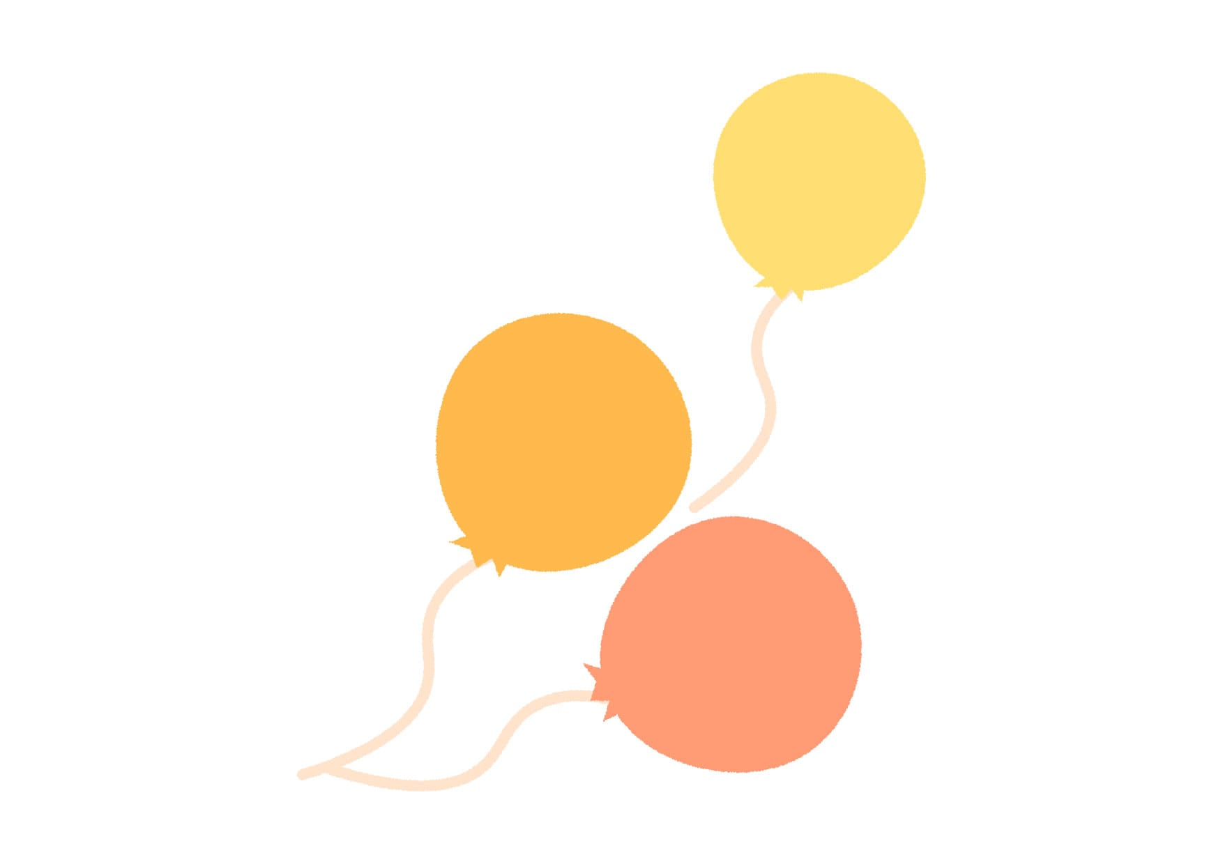 可愛いイラスト無料|風船 黄色 − free illustration Balloon yellow